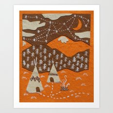 Orange mountain county Art Print