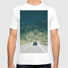 Synchro Bus Colorado Mens Fitted Tee White SMALL
