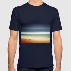 Pondering Silence Mens Fitted Tee Navy SMALL