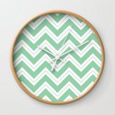 Mint Chevron Wall Clock