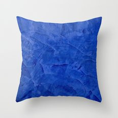 Dark Blue Stucco Throw Pillow
