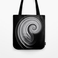 Black And White Skeletal Shell  Tote Bag