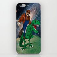 Raccoon Dino Rider.... iPhone & iPod Skin