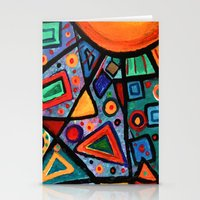 Abstract Sun Stationery Cards