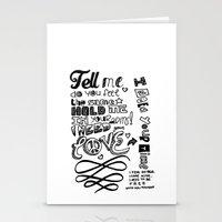 lyrics Stationery Cards featuring Lettering Lyrics by Insait disseny