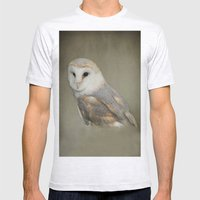 Barn Owl Mens Fitted Tee Ash Grey SMALL