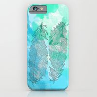 Feathers On Watercolor iPhone 6 Slim Case