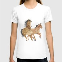horses T-shirts featuring Horses by Christopher Bennett
