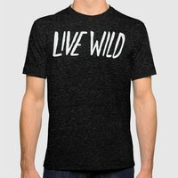 Live Wild X North Cascad… Mens Fitted Tee Tri-Black SMALL