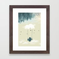 Lucy in the sky Framed Art Print