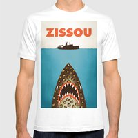 Zissou Mens Fitted Tee White SMALL