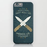 iPhone Cases featuring That which does not kill us makes us stronger by Beardy Graphics
