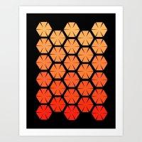 Honeycombs Art Print