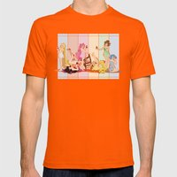 Sailor Moon Pinup - Cupcakes Mens Fitted Tee Orange SMALL