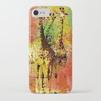 giraffe iPhone & iPod Cases featuring Giraffe  by Saundra Myles