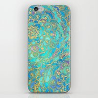 Sapphire & Jade Stained … iPhone & iPod Skin