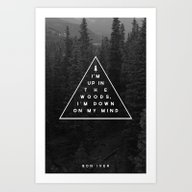 Art Print featuring Woods -- Bon Iver by Zeke Tucker