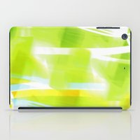 In Between Yellow, Green and Blue - JUSTART © iPad Case