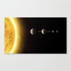 Solar System Society6 Planet Prints Canvas Print