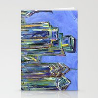 Blue Philadelphia Skylin… Stationery Cards