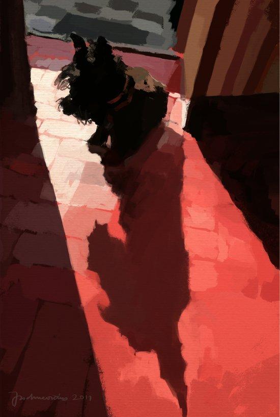 Groovy shadow Art Print