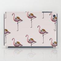 Flamingo and English Bulldog  iPad Case
