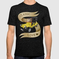 Classic Love Mens Fitted Tee Tri-Black SMALL