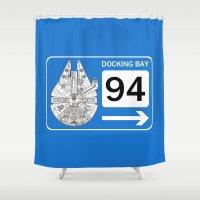 Docking Bay 94 Shower Curtain