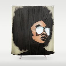 Venus Afro Shower Curtain