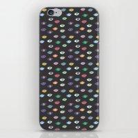 Eyez (Black) iPhone & iPod Skin