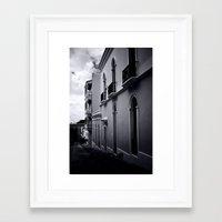 Dark day in San Juan Framed Art Print