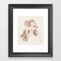 Girlie Framed Art Print