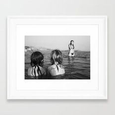 in the sea Framed Art Print