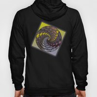 Abstract Wattle in a Spin Mandala Hoody