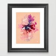 Color Eye Framed Art Print