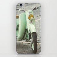 Mint Moto - Bruges Belgium Photography iPhone & iPod Skin