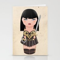 Kokeshi Xena, Warrior Pr… Stationery Cards