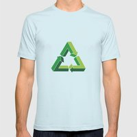 Recycle Infinitely Mens Fitted Tee Light Blue SMALL