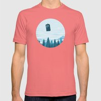 I Believe - Blue Mens Fitted Tee Pomegranate SMALL
