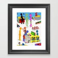 Leisure Activities Of Th… Framed Art Print