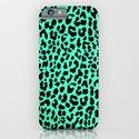 Neon Mint Leopard iPhone & iPod Case
