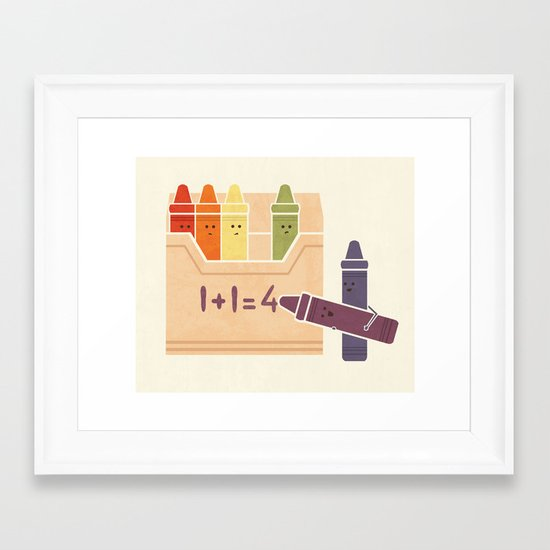 Not The Brightest Crayons Framed Art Print