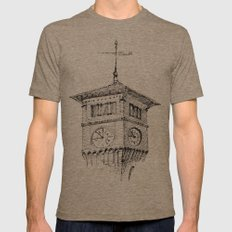Clock Tower Mens Fitted Tee Tri-Coffee SMALL