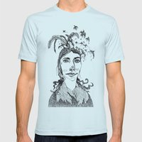 Pj Harvey Mens Fitted Tee Light Blue SMALL