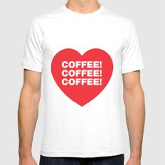 COFFEE! Mens Fitted Tee White SMALL