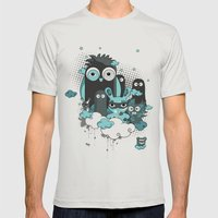 Nocturnal Friends Mens Fitted Tee Silver SMALL