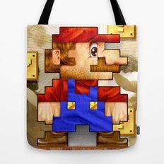 Super Mario Pixelated Realism Tote Bag