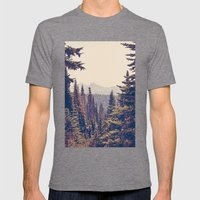 Mountains through the Trees Mens Fitted Tee Tri-Grey SMALL
