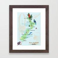 New Zealand Framed Art Print