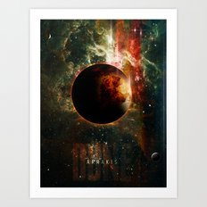 DUNE Planet Arrakis Poster Art Print